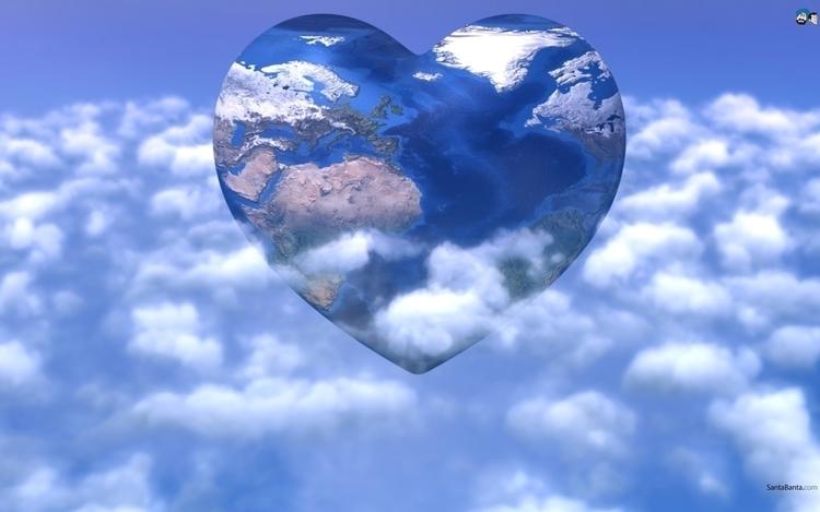 Heart Clouds - conceptart, 3d - aman_d_singh | ello