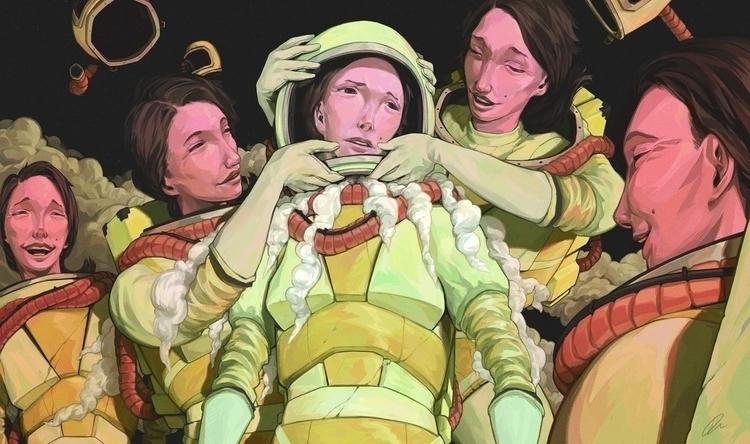 space, clones, astronaut, digitalart - jon-6922 | ello