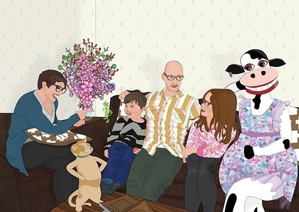 dinner - illustration, characterdesign - kiwi-1078 | ello