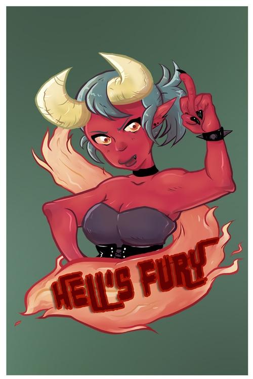 illustration - Demongirl, Hellsfury - ariannafahrenkamp | ello