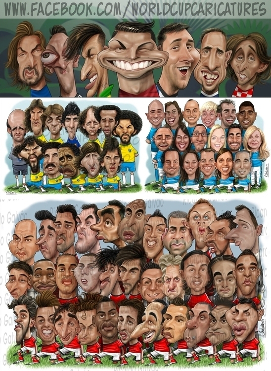 Samples group caricatures - illustration - rgalvao | ello