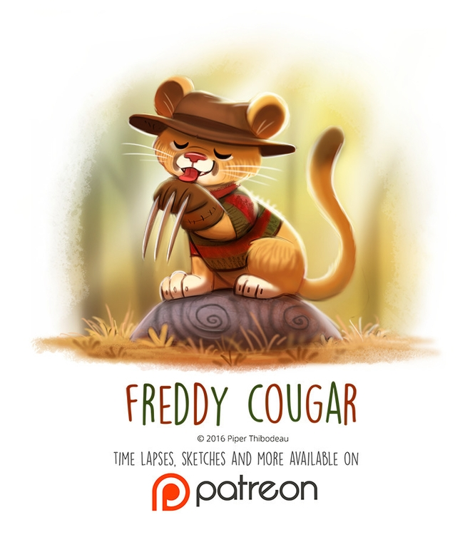 Day 1429. Freddy Cougar - piperthibodeau | ello