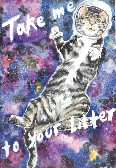 litter - cat, illustration, watercolor - cpicheco   ello