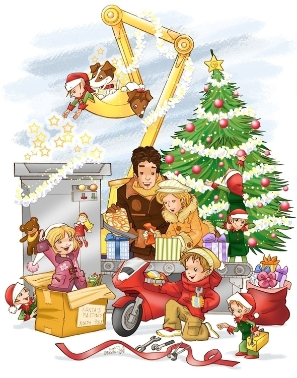 Christmas card - illustration, christmascard - multitaskingirl | ello