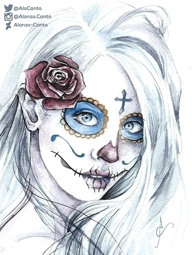 Beautiful Death - illustration, painting - alonzocanto | ello