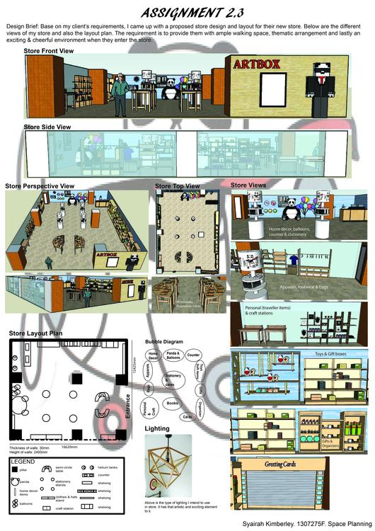 Proposed Artbox store (School a - syairahkimmy   ello