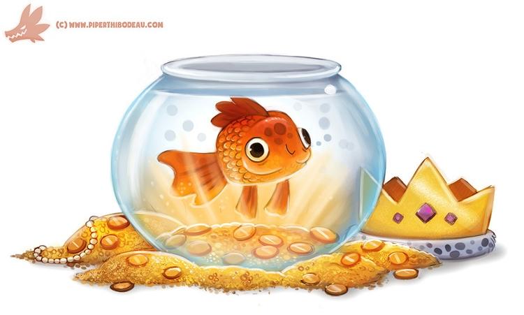 Daily Paint Goldfish - 1138. - piperthibodeau | ello