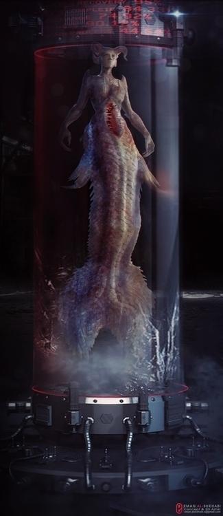 Mermaid - characterdesign, conceptart - emanalshehabi | ello