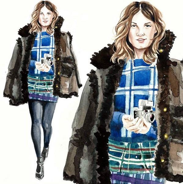 Hanelli - watercolor, fashionillustration - cpicheco   ello
