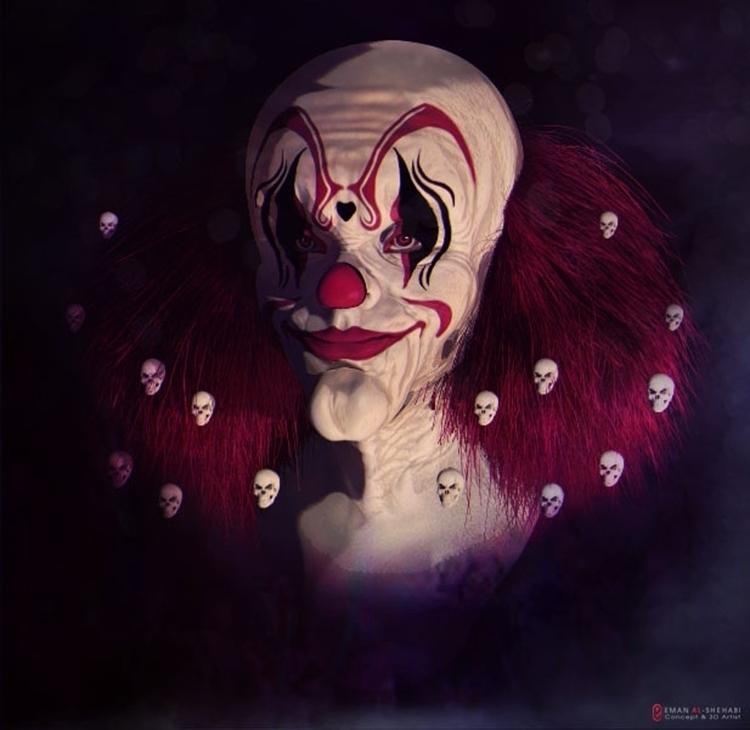 Phobia fear clown - characterdesign - emanalshehabi | ello