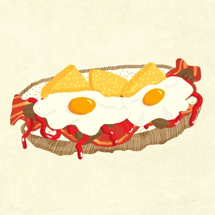 Fried egg, illustrated Bord Wor - guycresswell | ello