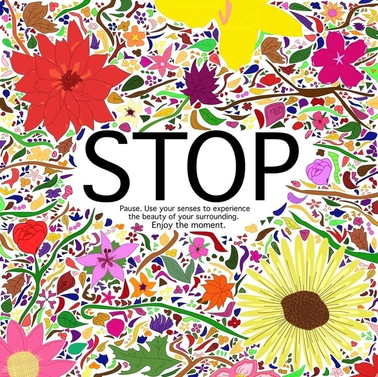 Stop! Slow enjoy moment - illustration - hanvone | ello