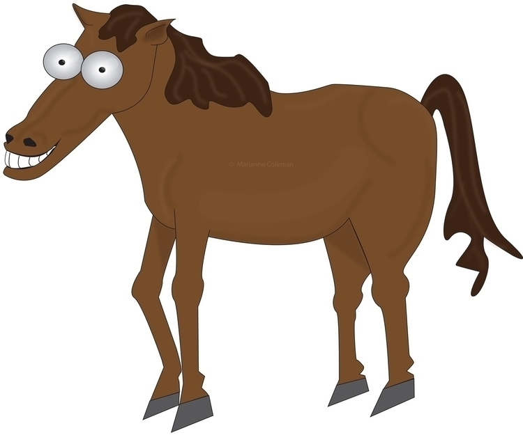 Horse - illustration, characterdesign - kiwi-1078   ello
