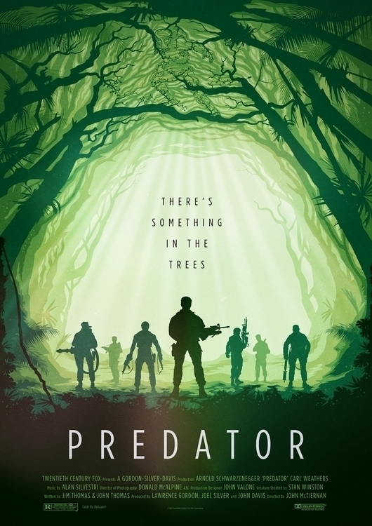 Predator, schwarzenegger, movieposter - oldredjalopy | ello