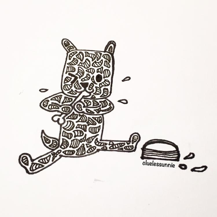 Puppy - illustration, penink, puppy - hanvone | ello