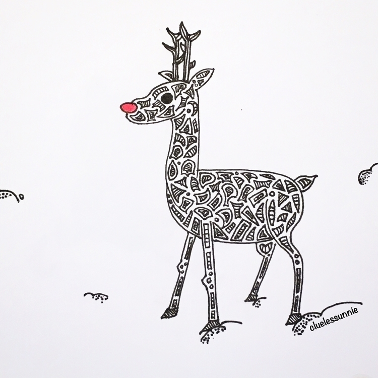 Rudolph - illustration, drawing - hanvone | ello