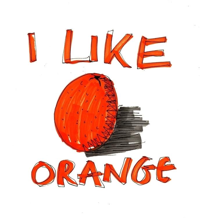 Orange - orange, illustration, jtillustration - jordonthompson | ello