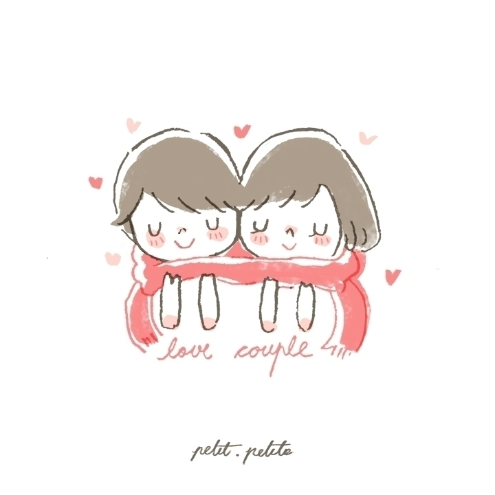 Love couple - illustration, girl - petitpetite | ello