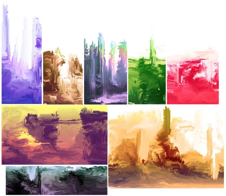 Worlds. (30 sec - painting, digitalart - cellusious   ello