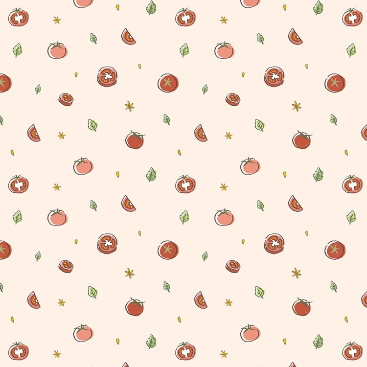 Tomatoes - illustration, pattern - petitpetite | ello