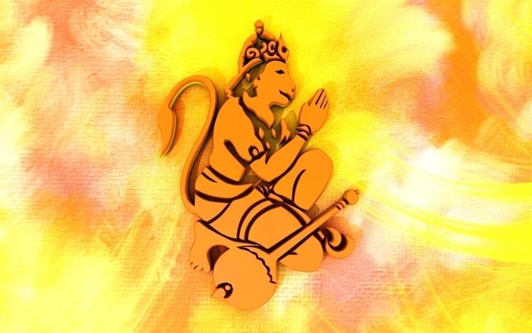 Lord Hanuman - 3d, conceptart, drawing - aman_d_singh | ello