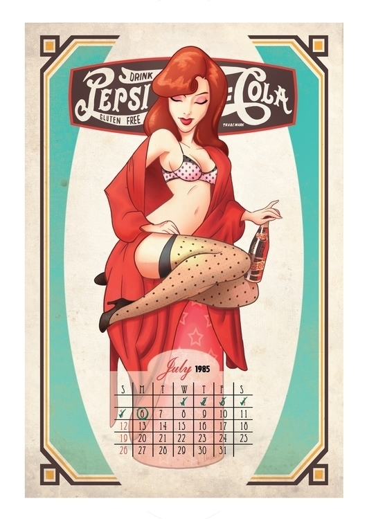 girl, calendar, pepsi, pink - christiansuarez | ello