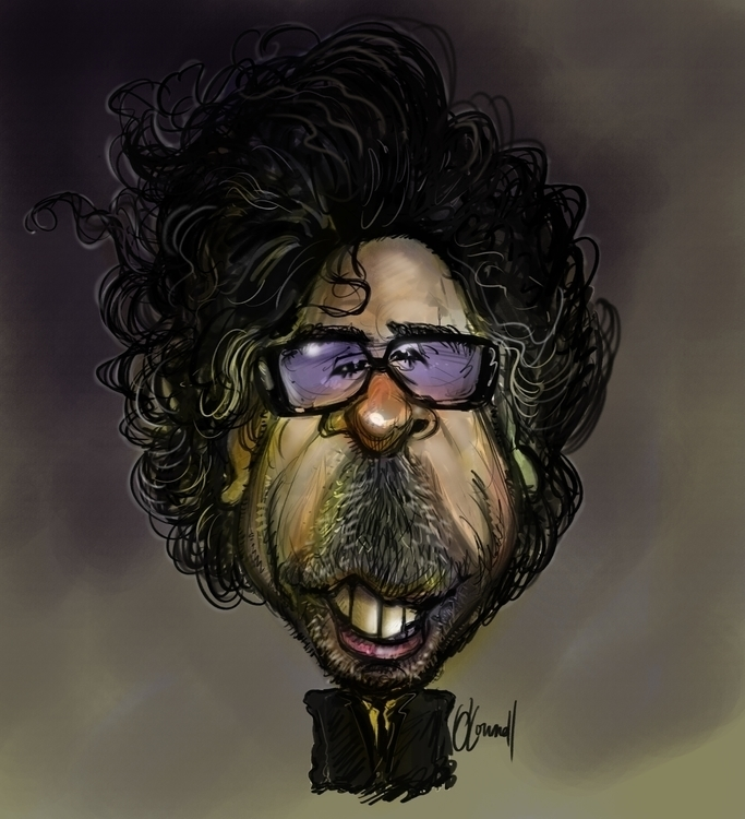 Caricature Tim Burton - illustration - johnoconnell-1072 | ello