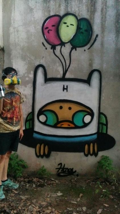 Adventure Time wire - streetart - hani-1220 | ello
