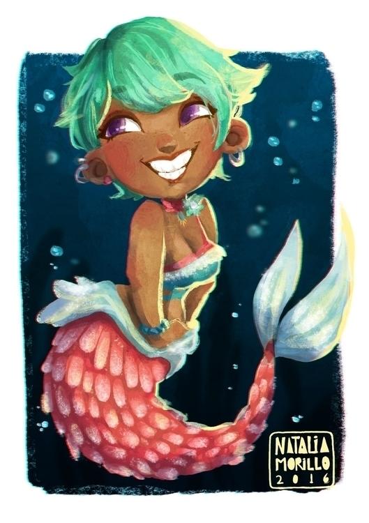 Mermaid - conceptart, digitalart - natarya | ello