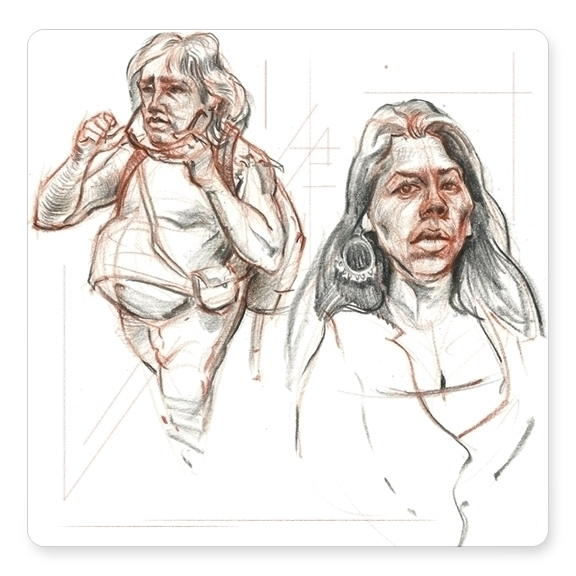 Character studies drawn photos  - dkelmer | ello