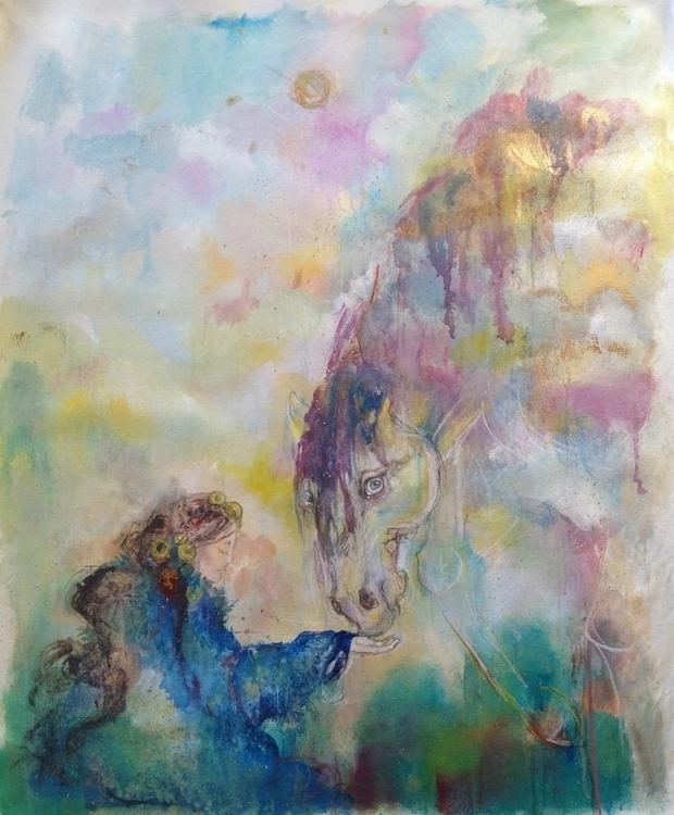 Struggle Acrylic canvas 100 70c - tiffanigyatso | ello