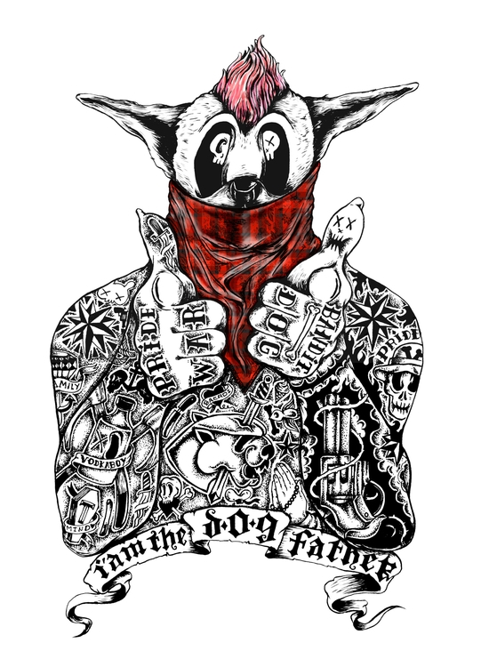 da dog father - typography, drawing - thanathan | ello