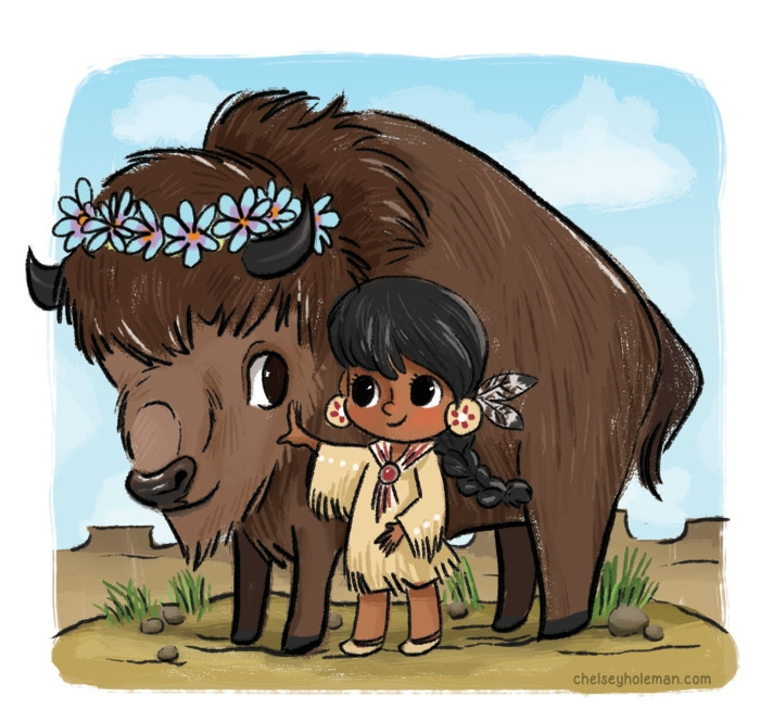 Friends - Native American - children'sillustration - chelschmitz | ello
