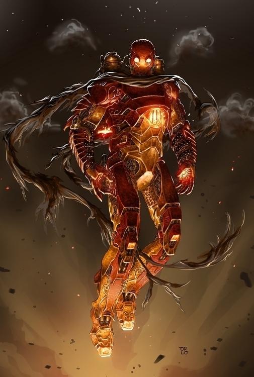 Steampunk Ironman - illustration - orlo | ello