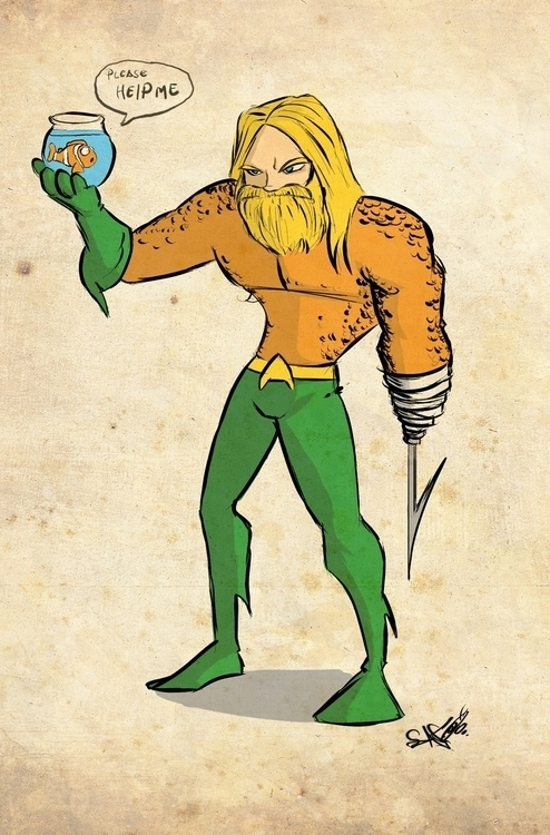 aquaman nemo - illustration, painting - ronaldcarmona | ello