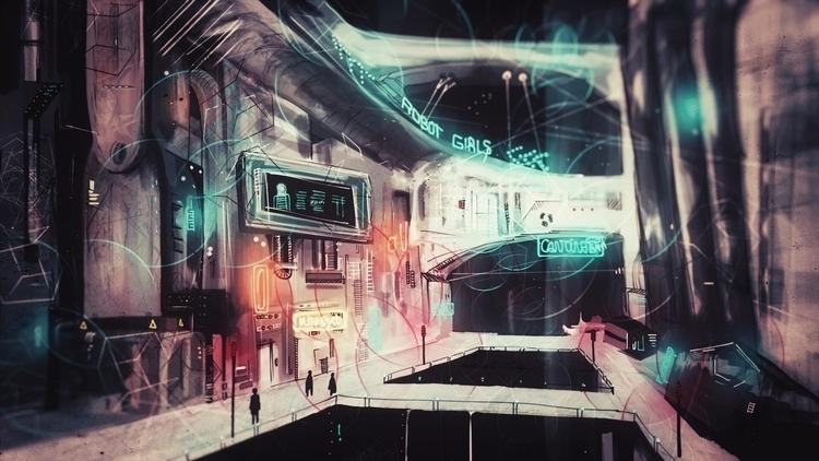 Cyberopunk city 2 concept art p - rantart | ello
