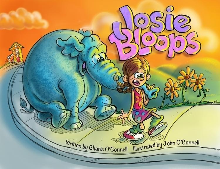 Josie Bloops book cover - illustration - johnoconnell-1072 | ello