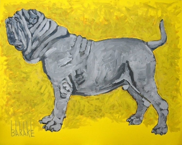 MASTINO PIOMBO - painting, dogs - barakesculptor   ello