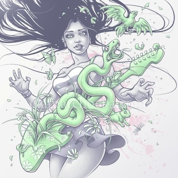 Sping - woman, girl, punk, music - aleksandracupcake   ello