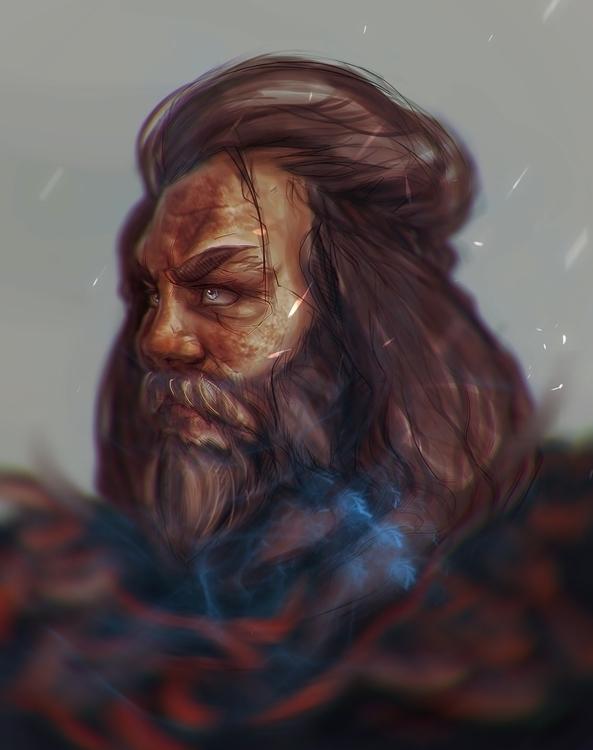 Viking rendering. realistic  - illustration - bassim | ello