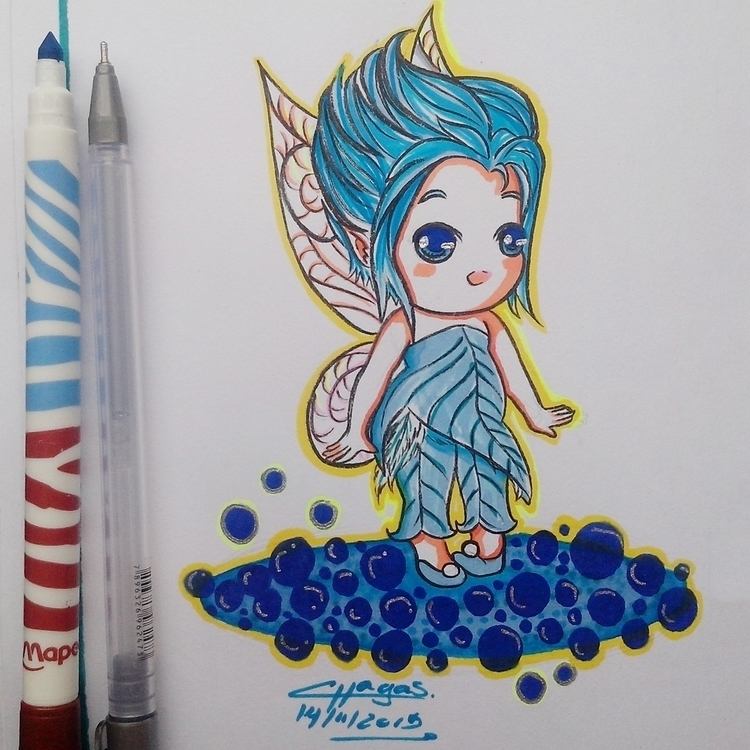 Periwinkle Tinkerbell. felt pen - chagasilustracoes-1144 | ello