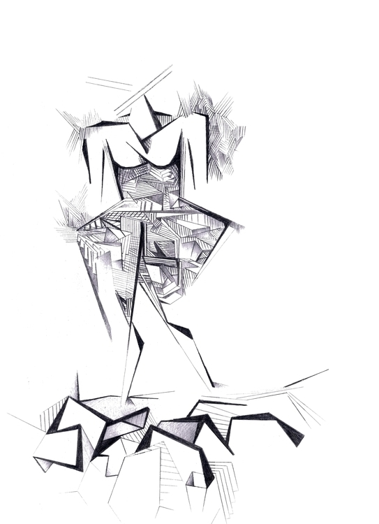 Safari Lady free hand sketch de - michalis_bompolis | ello