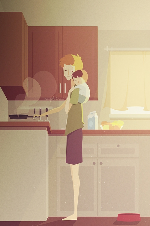 light home - illustration, conceptart - marinessrivera | ello