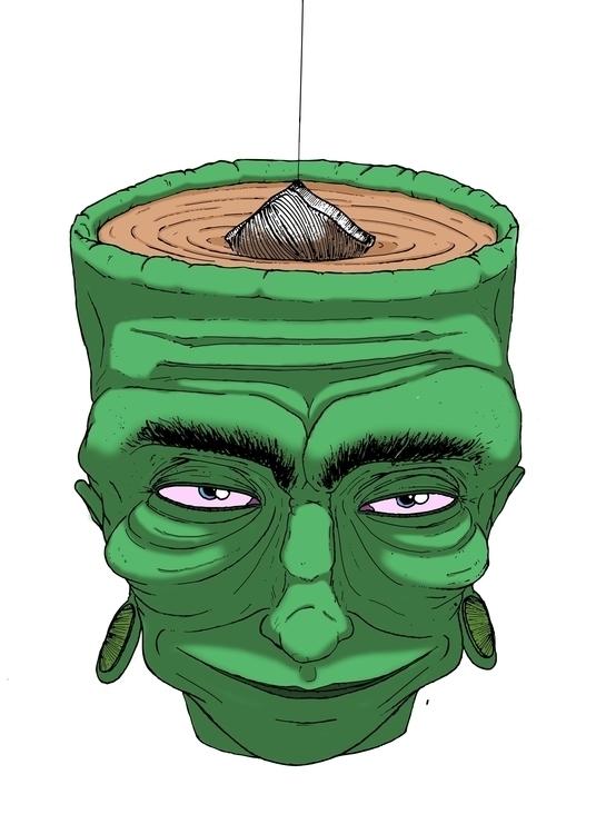 Tea Head - illustration, zine - thecreativefish | ello