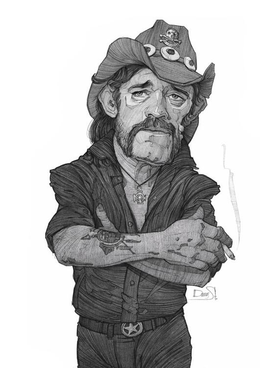 Lemmy, Rockmusic, sketch, portrait - stdamos | ello