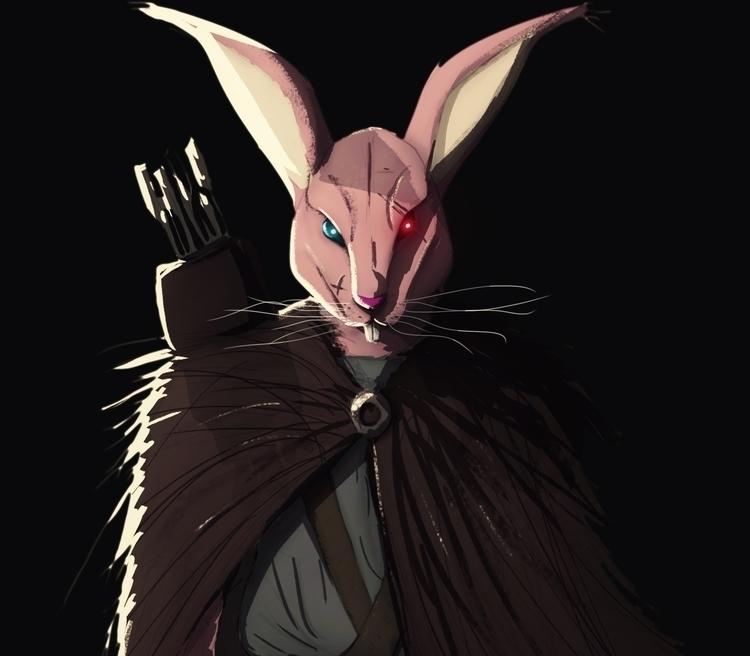 rabbit hood - characterdesign, children'sillustration - tarekhakeem | ello