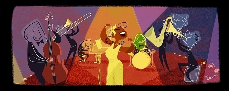 JAZZ - illustration, jazz, music - bshum | ello