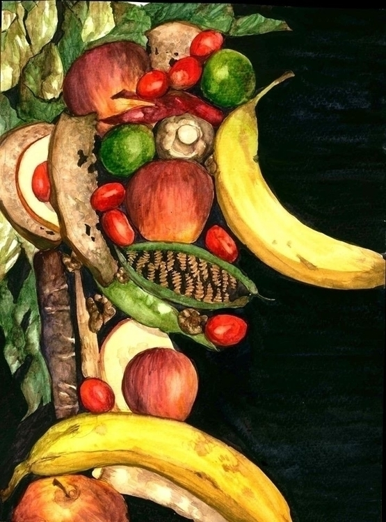 Husband - watercolor, fruit, painting - sarajacksonjihad | ello