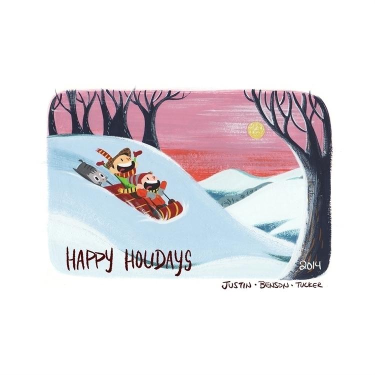 2014 Holiday card - gouache, painting - bshum | ello