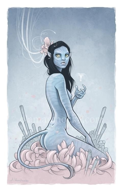 Navi Blue - navi, avatar, fanart - aleksandracupcake | ello